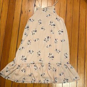 Aqua floral dress
